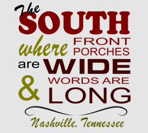 Custom Nashville lettering t-shirt designs to celebrate country music in Music City USA.