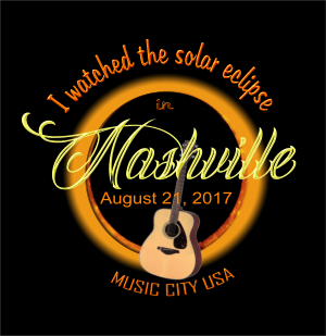 Watching 2017 Solar eclipse in Nashville TN design for custom shirts and gifts.